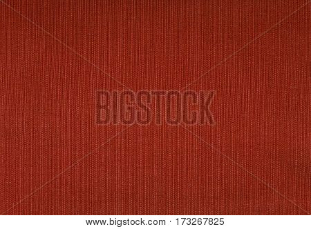 Deep Red Coarse Woven Fabric Background