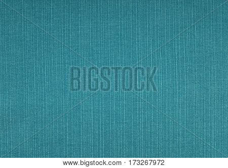 Turquoise Blue Coarse Woven Fabric Background
