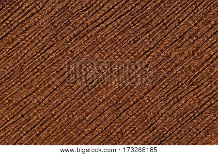 Warm Brown Crinkled Fabric Background Texture