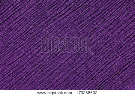 Dark Purple Crinkled Fabric Background Texture