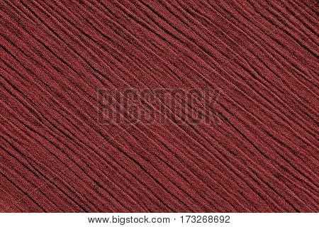 Red Crinkled Fabric Background Texture