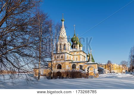 Church of St John the Baptist in Uglich in winter, Russia