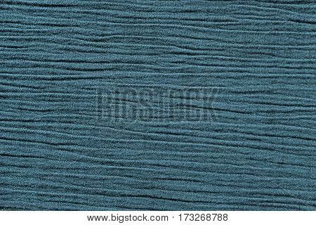 Blue Crinkled Material Background Texture