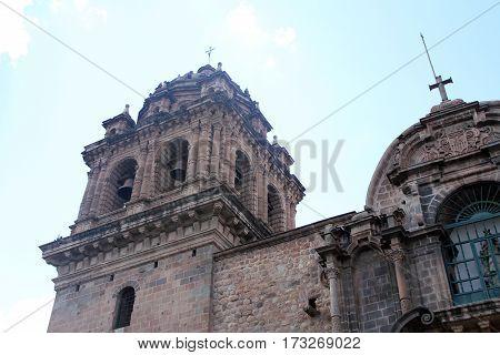 Cathedral in Plaza de Armas Cuzco Peru
