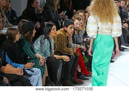 KYIV, UKRAINE - OCTOBER 13, 2016: Audience watching the Aysina show during the 39th Ukrainian Fashion Week at Mystetsky Arsenal in Kyiv