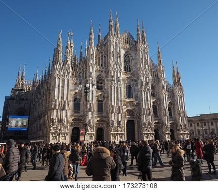 Piazza Duomo (cathedral Square) In Milan