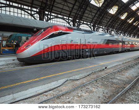 Italian Train In Milan