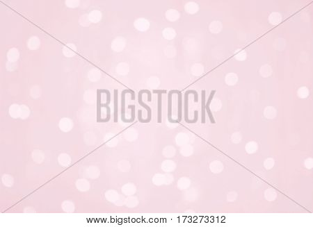 Delicate background for design. Beautiful pink Texture with Bokeh lights. Amazing Glamour backdrop. Horizontal Image Wallpaper Web Banner With Copy Space