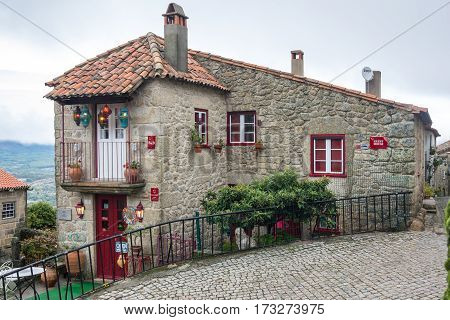 MONSANTO PORTUGAL - OCTOBER 18 2015: Street of Monsanto a village popularly known as
