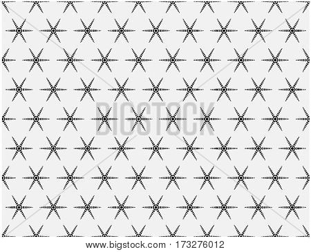 Simple modern geometric pattern of lines and repetitions stars.