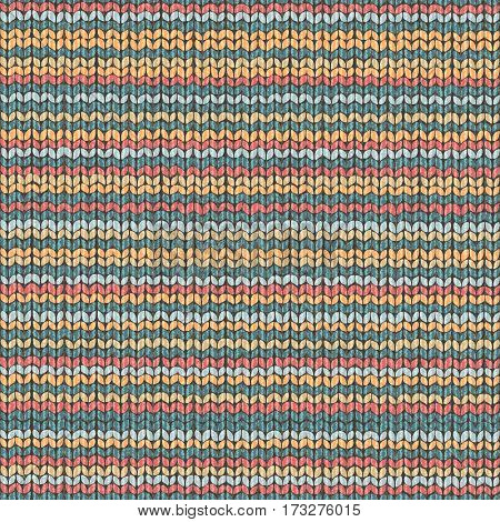 Knit texture striped repeat pattern, fabric wool textile illustration