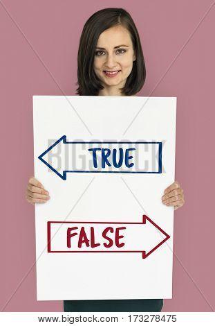 True False Choice Decision Word