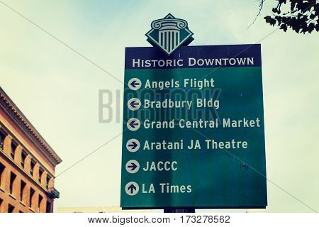 Los Angeles CA USA - October 27 2016: Popular destination in downtown L.A.