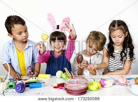 Kids Painting Concept