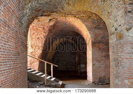 Old medieval fortress in the city Fagaras, Transylvania, Romania. poster