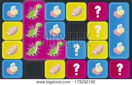 Dinosaur Toy Bricks Rugby Secret Question Matching