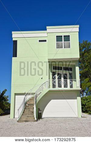 Modern Style Florida Beach House with garage