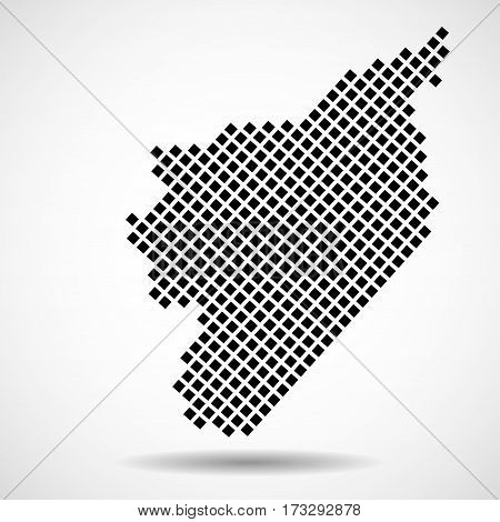 Abstract map of Syria from round dots, vector illustration eps 10