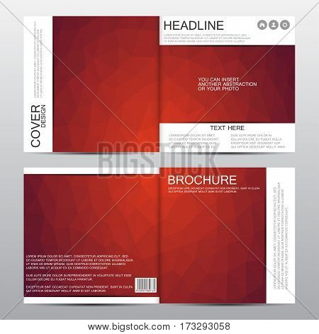 Square brochure template, Abstract vector background. Vector illustration