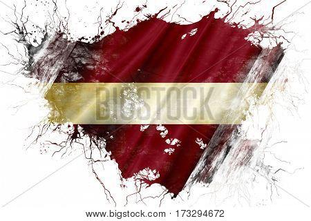 Grunge old Latvia  flag