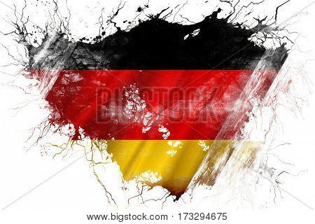 Grunge old German  flag