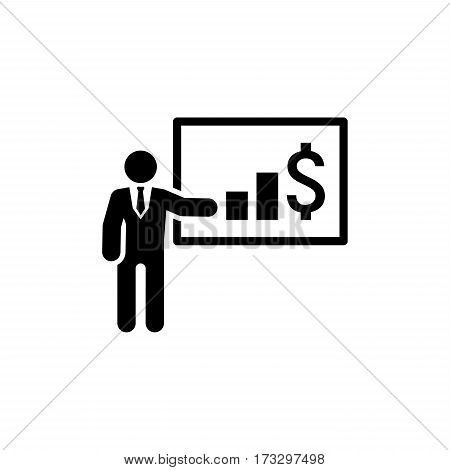 Presentation Icon. Business Concept. Flat Design. Isolated Icon.