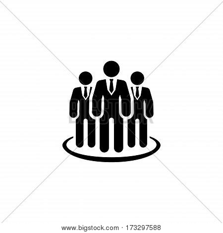 Business Leader Icon. Business Concept. Flat Design. Isolated Illustration.