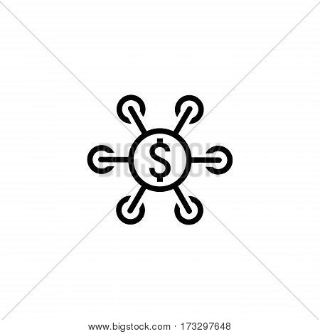 Investment Icon. Business Concept. Flat Design. Isolated Illustration.