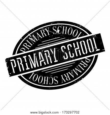 Primary School rubber stamp. Grunge design with dust scratches. Effects can be easily removed for a clean, crisp look. Color is easily changed.