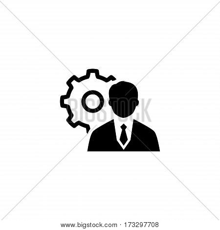 Management Icon. Business Concept. Flat Design. Isolated Illustration.