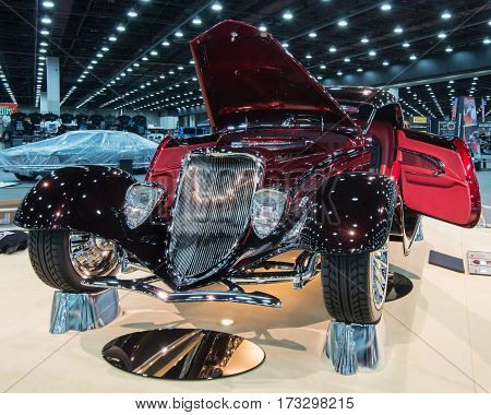 DETROIT MI/USA - February 24 2017: A 1933 Ford roadster,