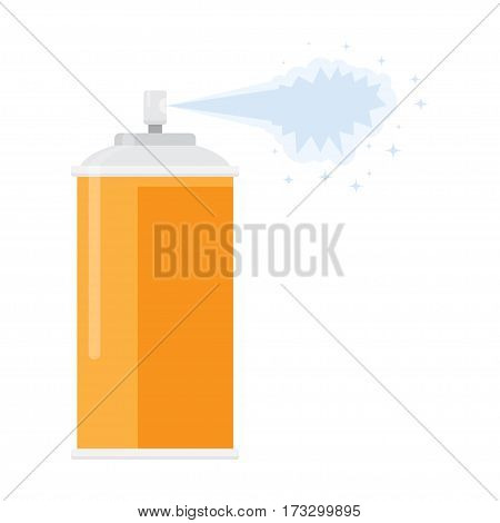 deodorant spray aerosol air freshener vector illustration flat design isolated on white background
