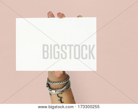 Blank Mock-up Placard Paper Template Empty