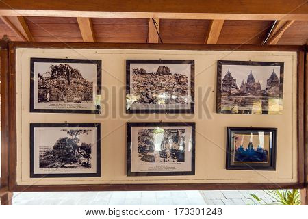 Yogyakarta, Indonesia - August, 28: Historical Photos Of  Prambanan Hindu Temple