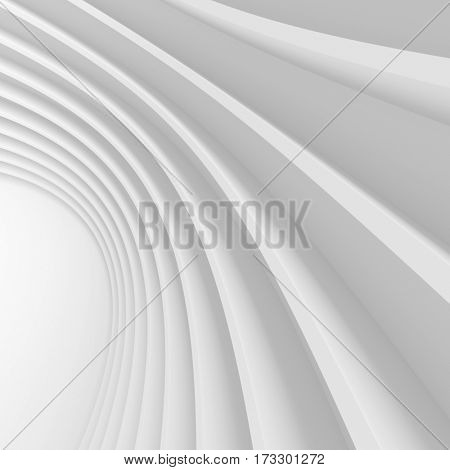 3d Rendering of Abstract Architecture Background. Creative Engineering Concept