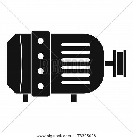 Electric motor icon. Simple illustration of electric motor vector icon for web