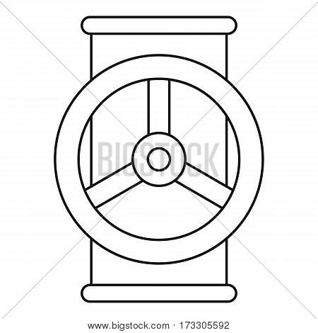 Valve icon. Outline illustration of valve vector icon for web