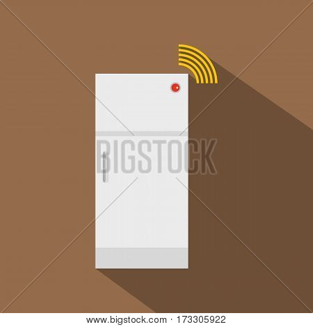 Fridge icon. Flat illustration of fridge vector icon for web