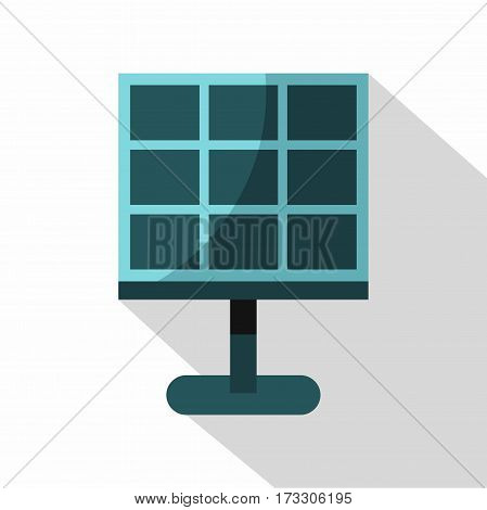 Solar battery icon. Flat illustration of solar battery vector icon for web