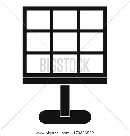 Solar battery icon. Simple illustration of solar battery vector icon for web