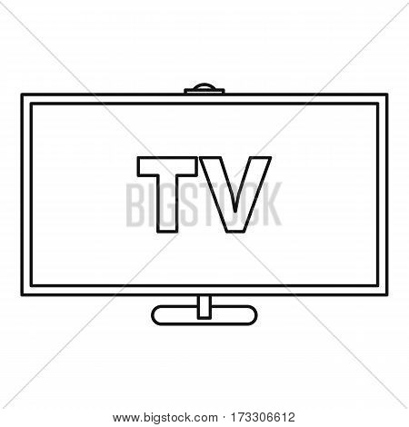 Television icon. Outline illustration of television vector icon for web