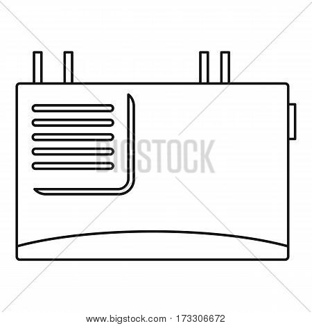 Wall router icon. Outline illustration of wall router vector icon for web