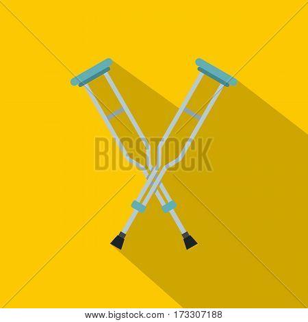 Crutches icon. Flat illustration of crutches vector icon for web