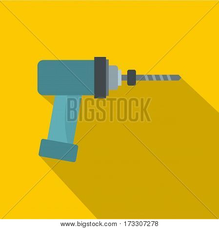 Medical drill icon. Flat illustration of medical drill vector icon for web