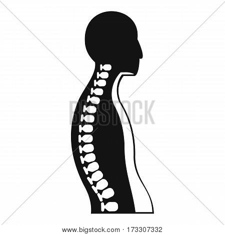 Human spine icon. Simple illustration of human spine vector icon for web