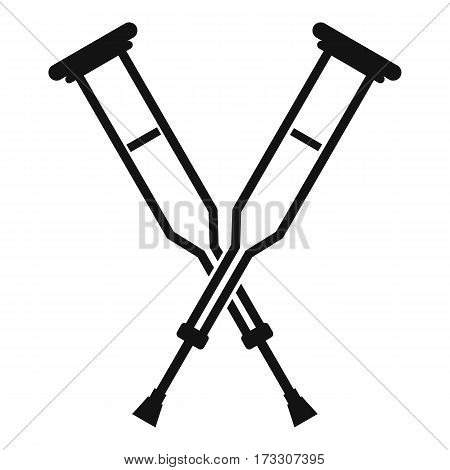Crutches icon. Simple illustration of crutches vector icon for web