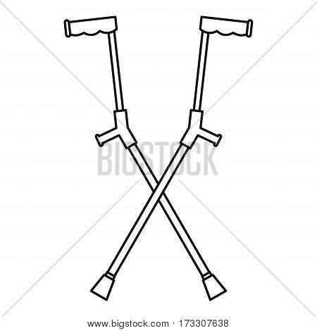 Other crutches icon. Outline illustration of other crutches vector icon for web