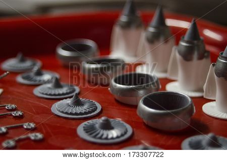 Pieces Of Plastic Model Big Airplane For Decoration