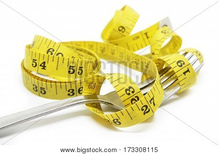 Steel Fork And Measuring Tape