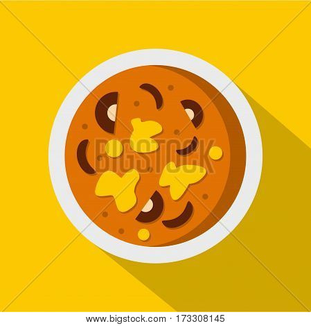 Asian hot dish icon. Flat illustration of asian hot dish vector icon for web